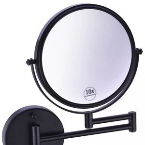 """Mounted Makeup Mirror 10xMag 8"""" Double Side Swivel"""